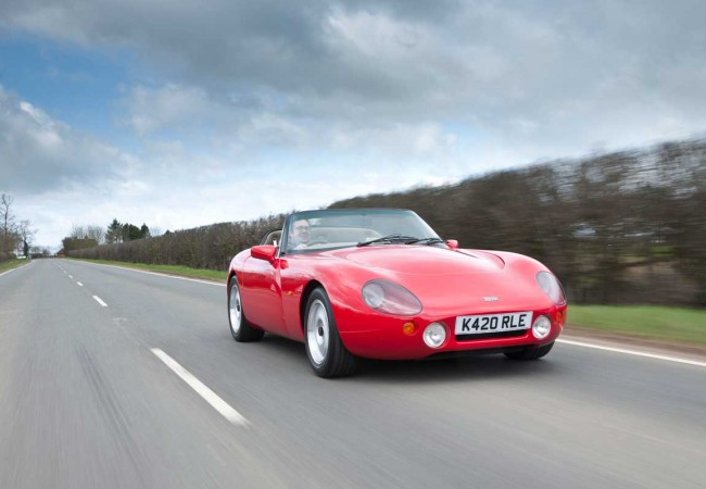 Red TVR Griffith 500