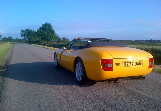 Yellow TVR Griffith 500