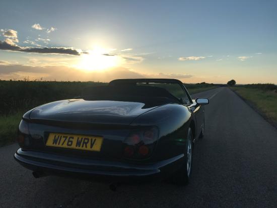 W176 WRV rear low sunset